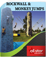 Rock Wall and Bungee Trampolines