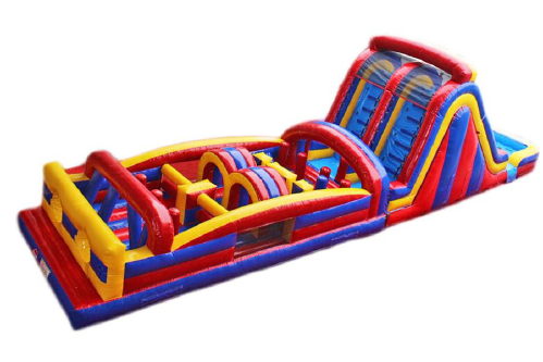 Combo 10: 40 ft Obstacle Course with 16ft Double Lane Slide