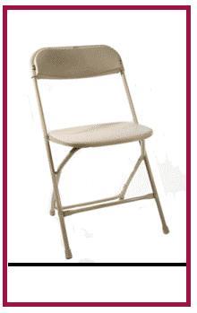 Folding Beige chairs