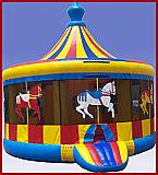 Carousel Bounce House #TB137