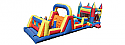 Combo 9: 49.5 Ft Castle Obstacle Course 35Ft Large Obstacle & Jumbo Castle