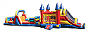 Combo 12: 60 Ft Castle Obstacle Course 35Ft Obstacle & 3in1 Jumbo Castle Slide
