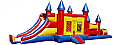 Combo 7: 44 Ft Castle Obastacle 3in1 Jumbo Castle Slide & 20Ft Obstacle