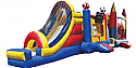 Combo 5: 42 Ft Obstacle Course 3-in-1 Jumbo Sports Slide & Large Castle