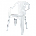 Chairs- Stackable Plastic (Adult White)